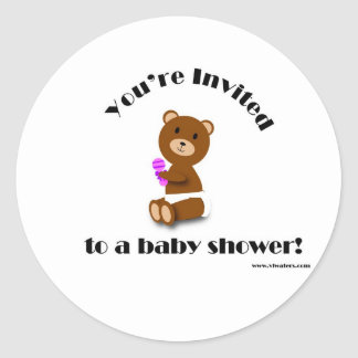 Bear Baby Shower sticker