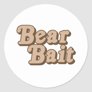 Bear Bait .png Classic Round Sticker