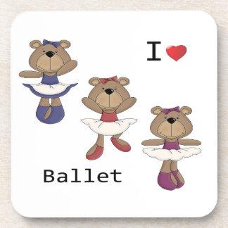 Bear Ballet Beverage Coaster