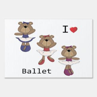 Bear Ballet Lawn Sign