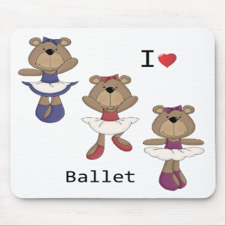 Bear Ballet Mouse Pad
