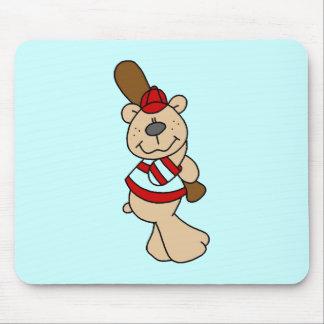 Bear Baseball Tshirts and Gifts Mouse Pad