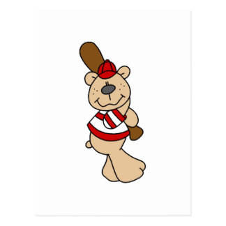 Bear Baseball Tshirts and Gifts Postcard