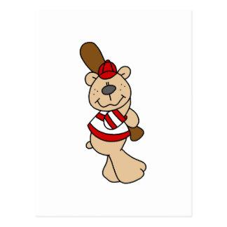 Bear Baseball Tshirts and Gifts Postcards
