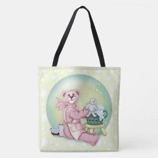 BEAR BATH LOVE All-Over-Print Tote Bag Large