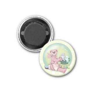 BEAR BATH LOVE ROUND Magnet 1¼ Inch