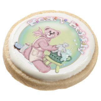 BEAR BATH Round Shortbread Cookies - One Dozen