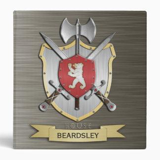 Bear Battle Crest Armor 3 Ring Binder