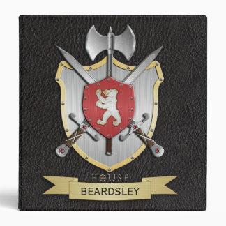 Bear Battle Crest Black 3 Ring Binder