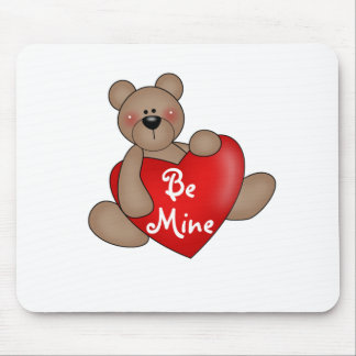 Bear Be Mine Valentine Tshirts and Gifts Mousepad