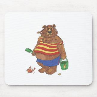 Bear Beach Mouse Pad
