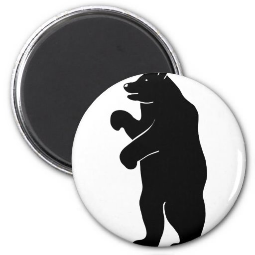 bear bear Berlin grizzly 2 Inch Round Magnet