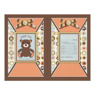 Bear Bear Boy Popcorn Wrapper Custom Flyer