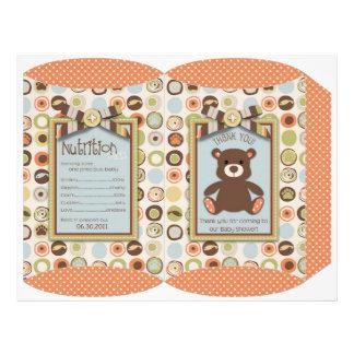 Bear Bear Boy Puff Box Template Full Color Flyer
