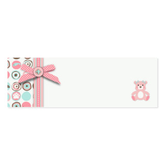 Bear Bear Girl Favor Tag Double-Sided Mini Business Cards (Pack Of 20)
