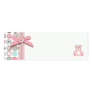 Bear Bear Girl Favor Tag Business Card Template