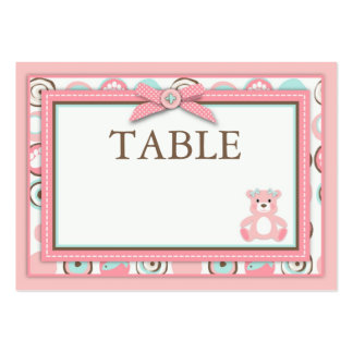 Bear Bear Girl Table Card Flat Mini Large Business Cards (Pack Of 100)