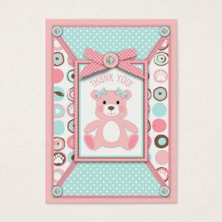 Bear Bear Girl TY Gift Tag