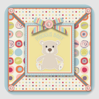 Bear Bear Square Sticker
