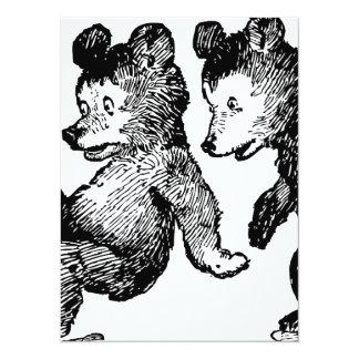 Bear bears animal custom personalize Anniversaries Card