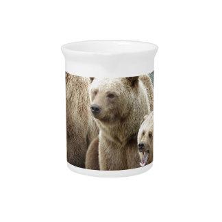 Bear bears animal custom personalize Anniversaries Drink Pitchers