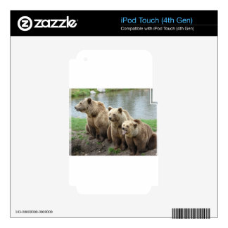 Bear bears animal custom personalize Anniversaries Skin For iPod Touch 4G