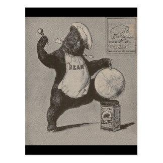Bear Beating Gong Postcard