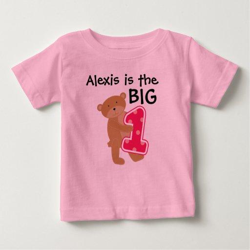 Bear Big One Customizable Birthday T-shirt
