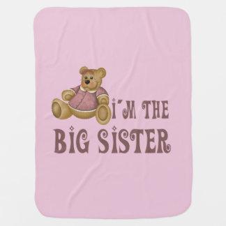 Bear Big Sister Baby Blanket