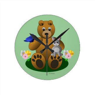 Bear Bird Bunny Animal Friends Kid s Clock