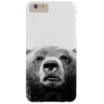 Bear black and white woodland animal photo barely there iPhone 6 plus case