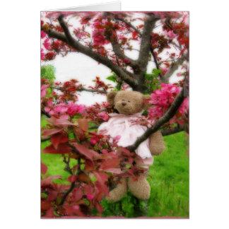 Bear Blossoms Greeting Card