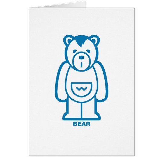 Bear (Blue) Card
