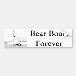 Bear Boats Forever Bumpersticker Bumper Sticker