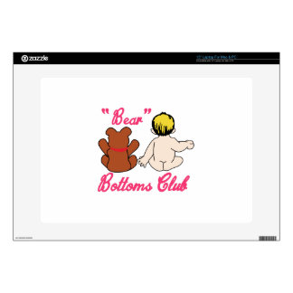 Bear Bottoms Club Laptop Decals