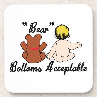Bear Bottoms Drink Coaster