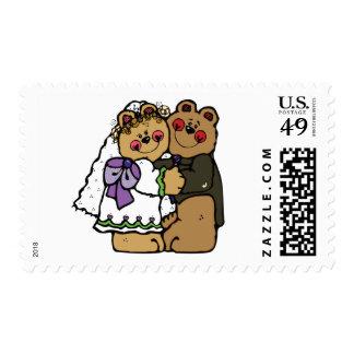 Bear Bride and Bear Groom Stamp