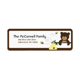BEAR & BUMBLE BEE PRINTABLE ADDRESS LABELS