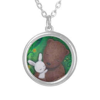 Bear & Bunny Woodland Love Anniversary Necklace