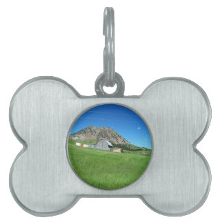 BEAR BUTTE IN SUMMER PET NAME TAG