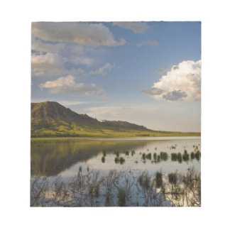 Bear Butte reflects into Bear Butte Lake near Memo Note Pads