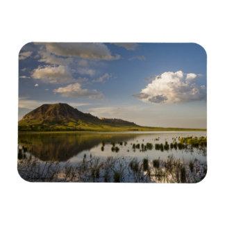 Bear Butte reflects into Bear Butte Lake near Rectangular Photo Magnet