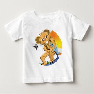 Bear Catching Fish Baby T-Shirt