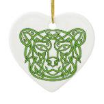 Bear Celtic Knot Ceramic Ornament