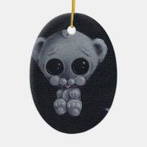 bear, cute, sugar, fueled, sugarfueled, coallus, michael, banks, sweet, bigeye, Ornament with custom graphic design