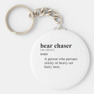 BEAR CHASER BASIC ROUND BUTTON KEYCHAIN