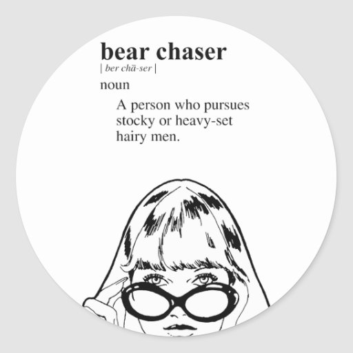 BEAR CHASER CLASSIC ROUND STICKER