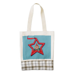 Bear Christmas decoration Zazzle HEART Tote Bag