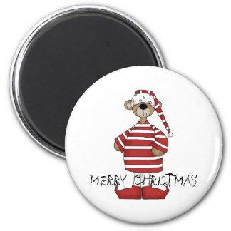 Bear Christmas magnet