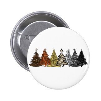 Bear Christmas Trees Pinback Button